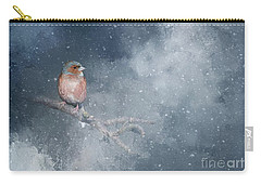 Chaffinch On A Cold Winter Day Carry-all Pouch