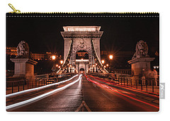 Chain Bridge At Midnight Carry-all Pouch by Jaroslaw Blaminsky