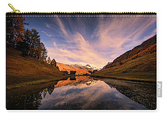 Chalet With An Autumn View Carry-all Pouch