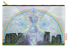 Chalice Over Stonehenge In Flower Of Life Carry-all Pouch