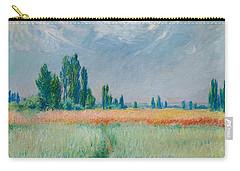 Champ De Ble Carry-all Pouch by Claude Monet