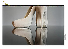 Carry-all Pouch featuring the photograph Champagne Stiletto Shoes by Terri Waters