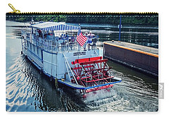Carry-all Pouch featuring the photograph Champlain Canal Patriot by Kendall McKernon