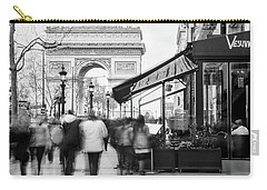 Carry-all Pouch featuring the photograph Champs Elysees And Arc Triomphe - Paris by Barry O Carroll