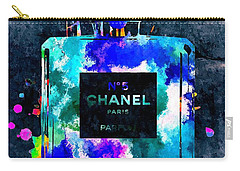 Chanel No 5 Dark Grunge Carry-all Pouch by Daniel Janda