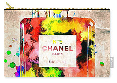 Chanel No 5 Grunge Carry-all Pouch by Daniel Janda
