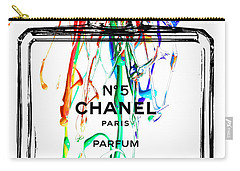 Chanel No. 5 Watercolor Carry-all Pouch by Daniel Janda