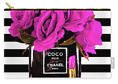 Chanel Noir Perfume With Flowers Carry-all Pouch