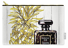Chanel  Noir Perfume With Pineapple Carry-all Pouch by Del Art