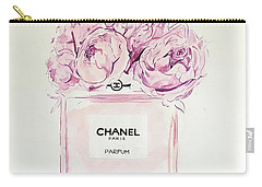Chanel Peonies Carry-all Pouch