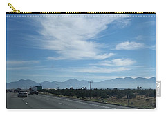 Changing Lanes On A Desert Highway Carry-all Pouch