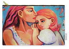 Carry-all Pouch featuring the painting Changing Seasons by Eva Campbell