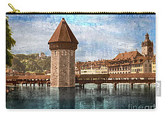 Chapel Bridge In Lucerne Carry-all Pouch