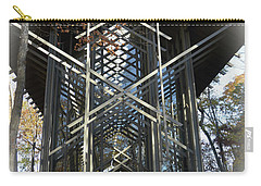 Carry-all Pouch featuring the photograph Chapel In The Woods by Lena Wilhite