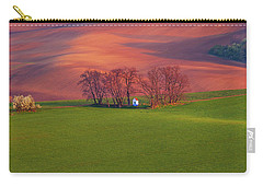 Carry-all Pouch featuring the photograph Chapel St Barbara. Moravian Tuscany by Jenny Rainbow