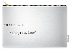 Chapter 8 Love Love Love Carry-all Pouch by Toni Hopper