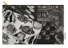 Charcoal Chaos Carry-all Pouch