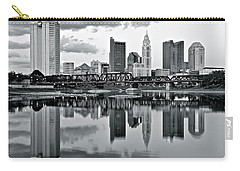 Charcoal Columbus Mirror Image Carry-all Pouch by Frozen in Time Fine Art Photography