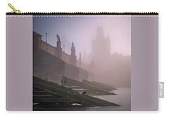 Charles Bridge At Autumn Foggy Day, Prague, Czech Republic Carry-all Pouch