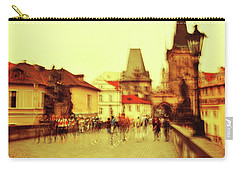 Carry-all Pouch featuring the photograph Charles Bridge. Golden Prague. Impressionism by Jenny Rainbow