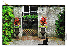 Charleston Cat Carry-all Pouch by Joan  Minchak