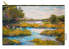 Carry-all Pouch featuring the painting Charleston City Limits by Alan Lakin