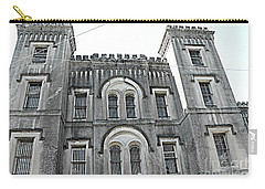 Carry-all Pouch featuring the photograph Charleston Historical Haunted Old Jail House - Charleston Old Jail Civil War Architecture  by Kathy Fornal