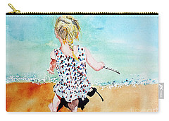 Carry-all Pouch featuring the painting Charlotte By The Lake by Tom Riggs