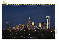 Charlotte Skyline During Blue Hour Carry-all Pouch by Serge Skiba