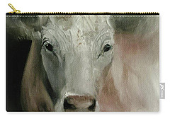 Charolais Cow Painting Carry-all Pouch