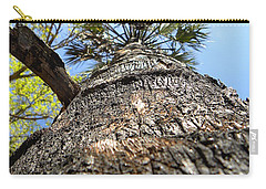 Charred Palm Tree 000 Carry-all Pouch by Chris Mercer