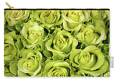 Chartreuse Colored Roses Carry-all Pouch