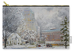 Chase Park Plaza In Winter, St.louis Carry-all Pouch