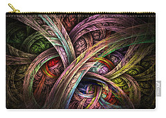 Carry-all Pouch featuring the digital art Chasing Colors - Fractal Art by NirvanaBlues