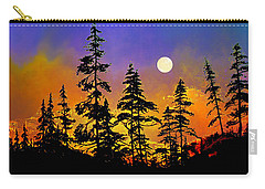Carry-all Pouch featuring the painting Chasing The Moon by Hanne Lore Koehler