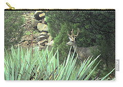 Chasing Velvet Antlers 1 Carry-all Pouch by Natalie Ortiz