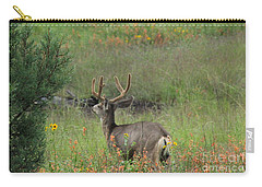 Chasing Velvet Antlers 7 Carry-all Pouch by Natalie Ortiz