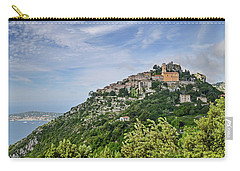 Carry-all Pouch featuring the photograph Chateau D'eze On The Road To Monaco by Allen Sheffield