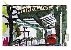 Chatelet Paris Metro Watercolor Sketch Carry-all Pouch
