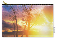 Carry-all Pouch featuring the photograph Chatfield Lake Sunset by Darren White