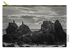 Chatting On Rocks Carry-all Pouch