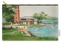 Chautauqua Bell Tower And Beach Carry-all Pouch
