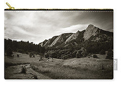 Carry-all Pouch featuring the photograph Chautauqua Night Path 2 by Marilyn Hunt