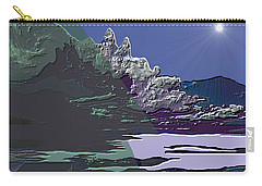 Carry-all Pouch featuring the digital art 1978 - Nowhere  by Irmgard Schoendorf Welch