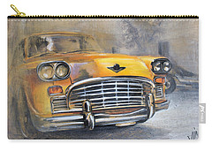 Checker Taxi Carry-all Pouch by Vali Irina Ciobanu