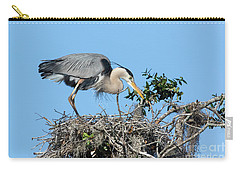 Carry-all Pouch featuring the photograph Checking The Eggs by Deborah Benoit