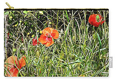 Cheeky Chappy Poppies Carry-all Pouch