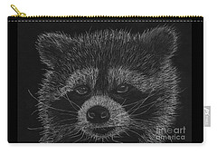 Cheeky Little Guy - Racoon Pastel Drawing Carry-all Pouch