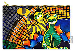 Cheer Up My Friend - Cat Art By Dora Hathazi Mendes Carry-all Pouch by Dora Hathazi Mendes