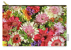 Cheerful Spring Collection - Gerbera Daisies Carry-all Pouch